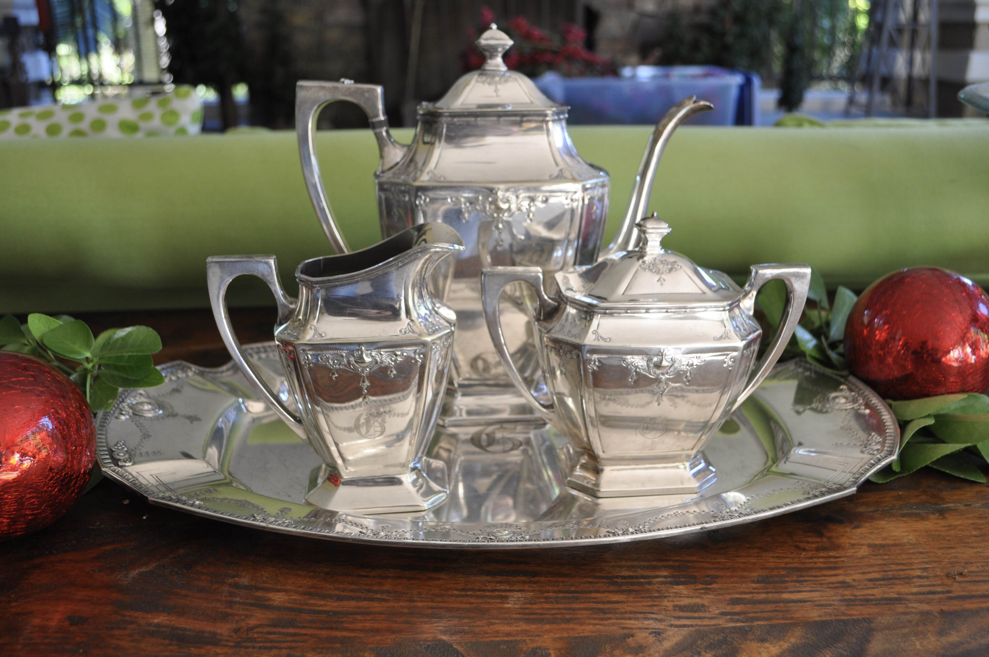 Elegant Silverplate Tea Service
