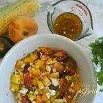 Tomato, Peach and Corn Salad